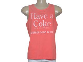 Regata Masculina Coca-cola Clothing 393200438 Coral - Tamanho Médio