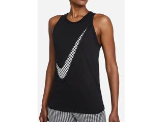 Regata Feminina Nike Dj1742-010 Dri-fit Icon Preto/branco - Tamanho Médio