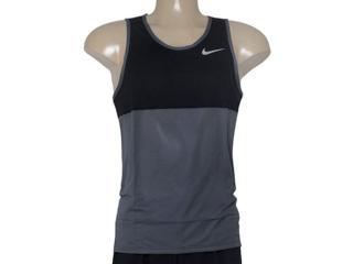 Regata Masculina Nike 642844-021 Racer Singlet Chumbo/preto - Tamanho Médio