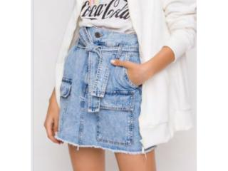 Saia Feminina Coca-cola Clothing 83201080 600 Jeans - Tamanho Médio