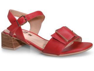 Sandália Feminina Comfortflex 20-67403 Vermelho - Tamanho Médio