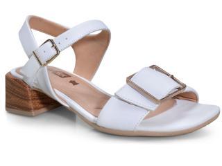 Sandália Feminina Comfortflex 20-67403 Branco - Tamanho Médio
