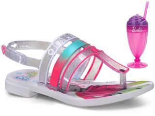 Sandália Fem Infantil Grendene 22460 21784 Milkshake Branco/vidro/rosa - Tamanho Médio