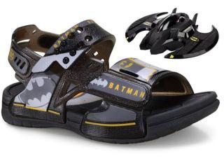 Sandália Masc Infantil Grendene 22518 20766 Batman Batwing Preto - Tamanho Médio