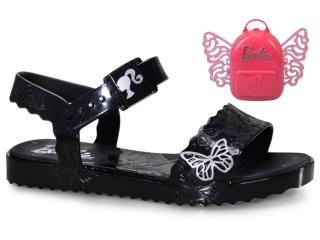 Sandália Feminina Grendene 22370 52293 Barbie Butterfly Inf Preto - Tamanho Médio