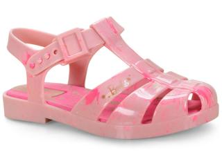 Sandália Fem Infantil Grendene 22111 53641 Barbie Glitz Rosa Splash - Tamanho Médio