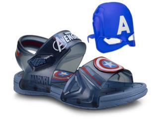 Sandália Masc Infantil Grendene 21998 24814 Azul/azul Marvel Hero Glasses Transparente - Tamanho Médio