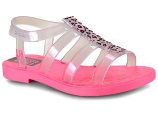 Sandália Fem Infantil Grendene 22021 25078 Larissa Manoela Trend Bag Rosa Neon/vidro - Tamanho Médio