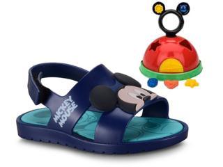 Sandália Masc Infantil Grendene 21996 24808 Mickey e Minnie Azul - Tamanho Médio