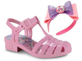 Sandália Fem Infantil Grendene 22004 52898 Lol Laço Mania Rosa/rosa Claro - Tamanho Médio