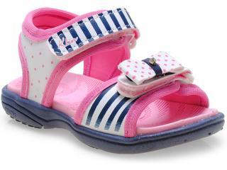 Sandália Fem Infantil Klin 711.034 Marinho/pink - Tamanho Médio