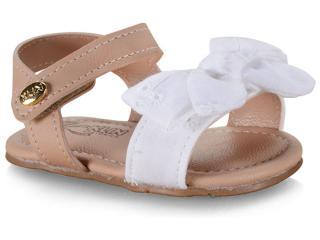 Sandália Fem Infantil Klin 515.142 Branco/nude - Tamanho Médio