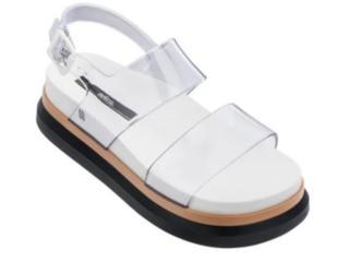 Sandália Feminina Melissa 32360 53577 Cosmic Sandal ii Vidro/branco/bege - Tamanho Médio
