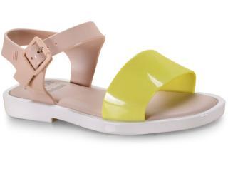 Sandália Feminina Melissa 32690 53612 Mar Sandal Bege/amarelo/branco - Tamanho Médio