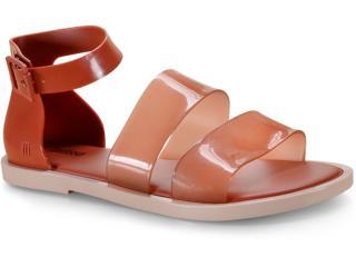 Sandália Feminina Melissa 32797 51387 Model Sandal Bege/marrom - Tamanho Médio