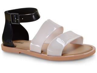 Sandália Feminina Melissa 32797 53670 Model Sandal Bege/preto - Tamanho Médio
