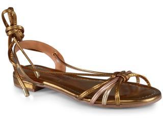 Sandália Feminina Vizzano 6370519 Bronze/ouro Rosado/dourado - Tamanho Médio