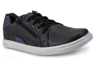 Sapatênis Masc Infantil Ped Shoes 7011 Preto - Tamanho Médio