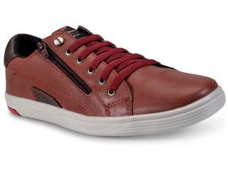 Sapatênis Masculino Ped Shoes 11008-e Vinho/chocolate - Tamanho Médio