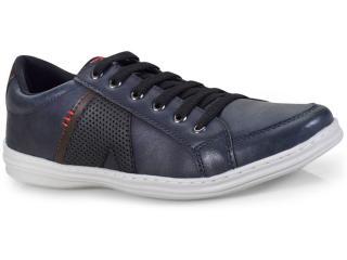 Sapatênis Masculino Ped Shoes 14003-c Azul/café - Tamanho Médio