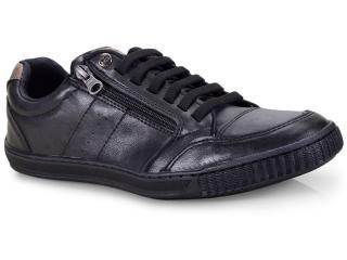 Sapatênis Masculino Ped Shoes 14010-a Kit C/relogio Preto - Tamanho Médio