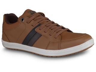 Sapatênis Masculino Ped Shoes 14008 Camel/café Kit Cinto+meia - Tamanho Médio