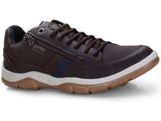 Sapatênis Masculino Ped Shoes 17503-b Kit c/ Relogio Café/marinho - Tamanho Médio