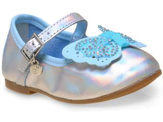 Sapatilha Fem Infantil Bibi 874052 Prata/azul - Tamanho Médio