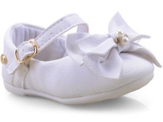 Sapatilha Fem Infantil Klin 152.099 Branco - Tamanho Médio