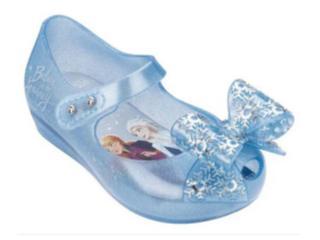 Sapatilha Fem Infantil Melissa 32851 53645 Ultragirl+frozen Azul Perolado - Tamanho Médio