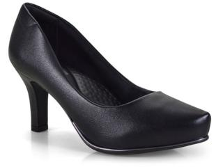 Sapato Feminino Comfortflex 18-85301 Preto - Tamanho Médio