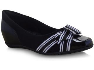 Sapato Feminino Comfortflex 19-94303 Preto/branco - Tamanho Médio