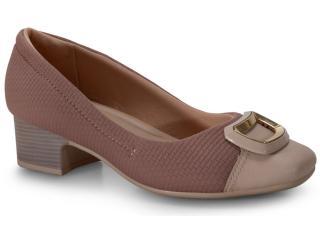 Sapato Feminino Comfortflex 20-86303 Nude/malva - Tamanho Médio