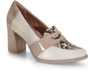 Sapato Feminino Comfortflex 20-78304 Off White/avelã - Tamanho Médio
