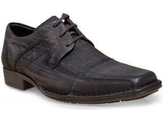Sapato Masculino Ferracini 4227-1327i Petróleo Estonado - Tamanho Médio