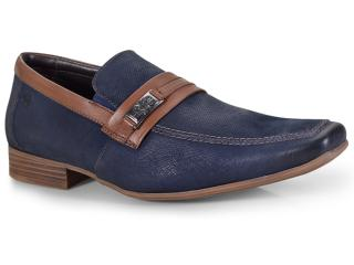 Sapato Masculino Ferricelli Slm50437 Marinho/capuccino - Tamanho Médio