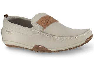 Sapato Masculino Ferricelli Mca54800 Off White/castanho - Tamanho Médio