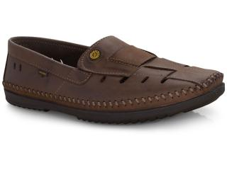 Sapato Masculino Free Way Logan-2 Wax Sesamo - Tamanho Médio