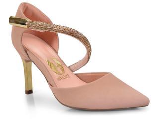 Sapato Feminino Invoice 401.4256 Divine Nude - Tamanho Médio