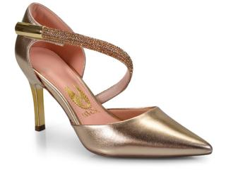 Sapato Feminino Invoice 401.4256 Divine Champagne - Tamanho Médio