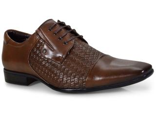 Sapato Masculino Jota pe 31113 Dark Tan - Tamanho Médio
