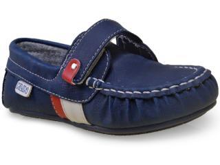 Sapato Masc Infantil Klin 197.018 Marinho/vermelho - Tamanho Médio