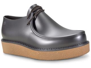 Sapato Feminino Melissa 32318 Billy Creepers Bege/prata - Tamanho Médio