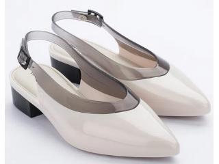 Sapato Feminino Melissa 32906 53408  Cleo Heel ad Bege/fume - Tamanho Médio
