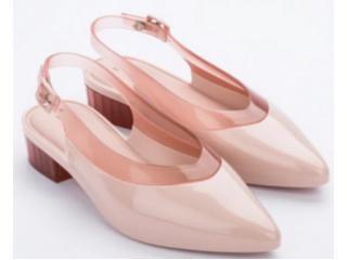 Sapato Feminino Melissa 32906 53709 Cleo Heel ad Rosa/rosa Transparente - Tamanho Médio