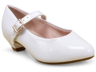 Sapato Fem Infantil Molekinha 2166414 Branco - Tamanho Médio