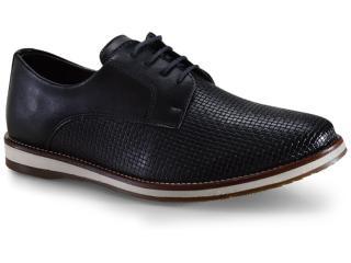 Sapato Masculino Ped Shoes Pa-503k-0345 Preto Kit Cinto+meia - Tamanho Médio