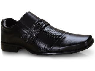 Sapato Masculino Ped Shoes 50910-a Preto Kit c/ Carteira e Cinto - Tamanho Médio