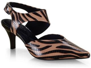 Sapato Feminino Ramarim 19-86203 Zebra Natural - Tamanho Médio
