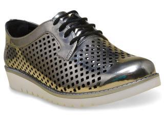 Sapato Feminino Ramarim 17-90104 Prata Velha - Tamanho Médio